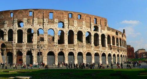 rome colisee facade