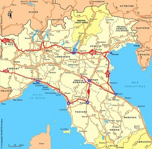 Circuit italie du nord