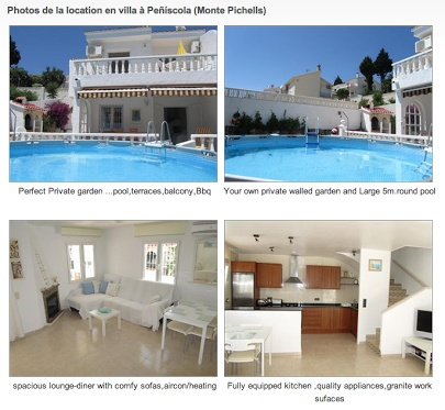 Vacances espagne fr location