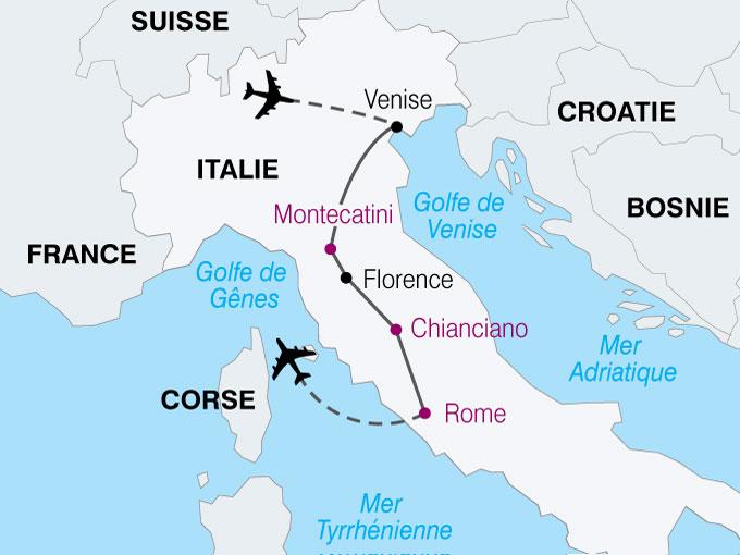 Carte Italie Venise Rome.Circuit Voyage Italie Sejours En Italie Du Sud Experience