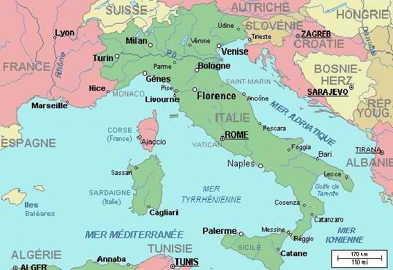 Mer en italie