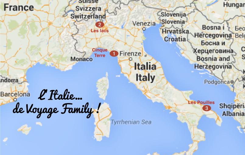 Les vacances en italie