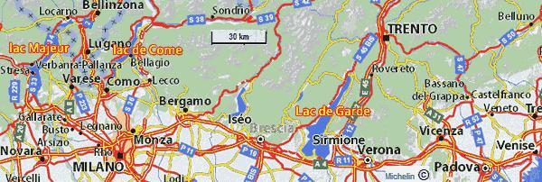 Voyage nord de l italie