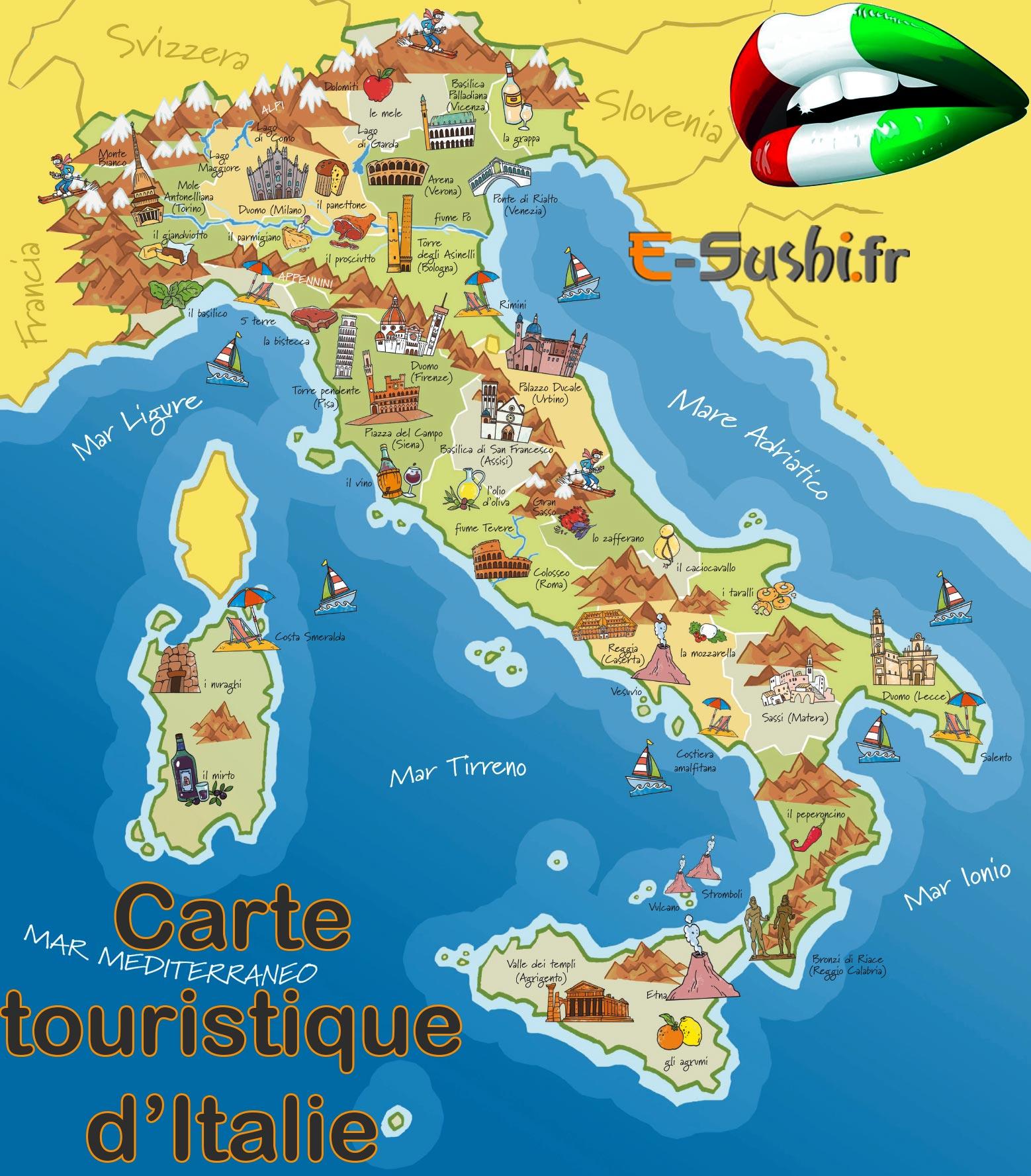 Carte Plage Italie Du Nord.Sud Italie Tourisme Vacances Italiennes 2016 Experience Voyage