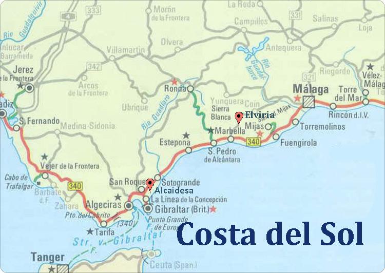 Carte Andalousie San Pedro De Alcantara.Voyage En Espagne Costa Del Sol Vacances Noel Espagne